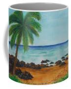 Footprints On Los Pinones Beach Pr Coffee Mug