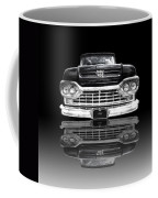 Ford F100 Truck Reflection On Black Coffee Mug