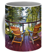 Forest Cottage Deck And Chairs Coffee Mug