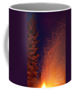 Forest Fire Danger Hot Spark Trails From Campfire Coffee Mug
