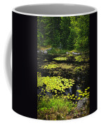 Forest Lake With Lily Pads Coffee Mug