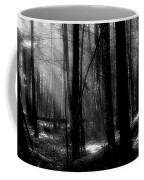 Forest Light In Black And White Coffee Mug