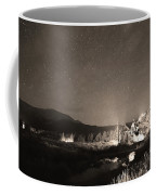Forest Of Stars Above The Chapel On The Rock Sepia Coffee Mug