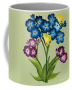 Forget Me Nots And Butterflies Coffee Mug