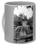 Forsyth Park Fountain - Black And White 2x3 Coffee Mug
