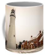 Fort Gratiot Lighthouse In Winter Coffee Mug