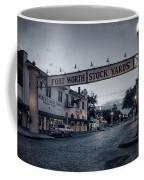 Fort Worth Stockyards Bw Coffee Mug