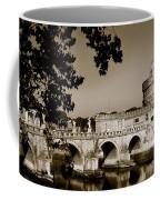 Fortress And Bridge In Sepia Coffee Mug