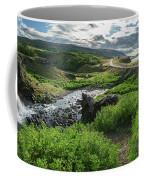 Fossa Waterfall In Hvalfjordur, Iceland Coffee Mug