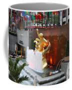 Fountain And Prometheus - Rockefeller Center Coffee Mug