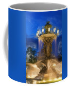 Fountain At Dusk Coffee Mug