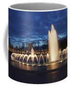 Fountain At Night World War II Memorial Washington Dc Coffee Mug