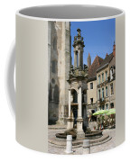 Fountain On The Market Place Autun Coffee Mug