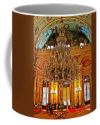 Four And One-half Ton Crystal Chandelier In Ceremonial Hall In Dolmabache Palace In Istanbul-turkey  Coffee Mug