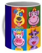 Four Animal Faces Coffee Mug