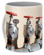 Four Emergency Water Valves Coffee Mug by Trever Miller