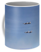 Four F-16 Falcons Doing A Slow Flyby Coffee Mug