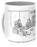 Four Lawyers Speak At A Conference Table Coffee Mug