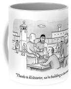 Four Men Converse Outdoors In A Prisoner Coffee Mug