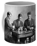 Four Men Playing Cards Coffee Mug
