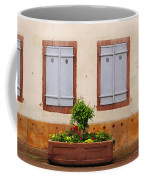 Four Pale Blue Shutters In Alsace France Coffee Mug