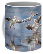 Four Pelican Landing Watercolor Effect Coffee Mug