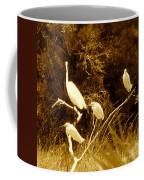 Four Resting Egrets Coffee Mug