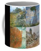 Four Seasons A Collage Of Monets Coffee Mug