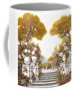 four seasons-autumn on lake Maggiore Coffee Mug by Guido Borelli