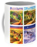 Four Seasons On The Farm Squared Coffee Mug