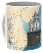 Fourteen Ft Bank Lighthouse De Nautical Chart Map Art Coffee Mug
