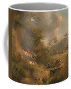 Fox Hunting In Hilly Country Coffee Mug