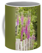 Foxglove Fence Coffee Mug by Anne Gilbert