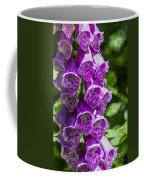 Foxgloves Textured Coffee Mug