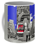 Fr. Duffy Statue Prior To Unveiling Coca Cola Sign Times Square New York City 1937-2014 Coffee Mug