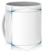 Fractal 46 Blue Frame Coffee Mug