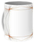 Fractal 48 Orange Frame Coffee Mug
