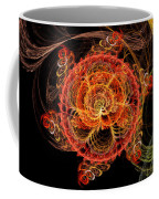 Fractal - Abstract - Mardi Gras Molecule Coffee Mug