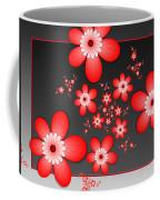 Fractal Cheerful Red Flowers Coffee Mug