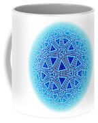 Fractal Escher Winter Mandala 5 Coffee Mug
