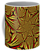 Fractal Golden And Red Coffee Mug