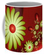 Fractal Happy Flowers 2 Coffee Mug