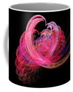 Fractal - Heart - Lets Be Friends Coffee Mug