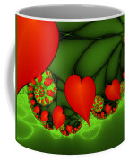 Fractal Hearts In The Discothec Coffee Mug