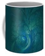 Fractal Marine Blue Coffee Mug