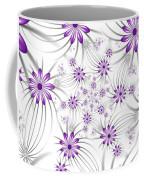 Fractal Purple Flowers Coffee Mug