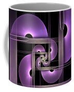 Fractal Purple Semicircles Coffee Mug