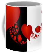 Fractal Red Hearts Coffee Mug
