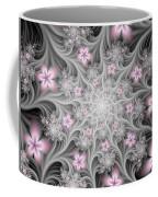 Fractal Soft Flowers Coffee Mug
