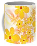 Fractal Yellow Flowers Coffee Mug